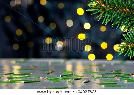Christmas Background With Needles