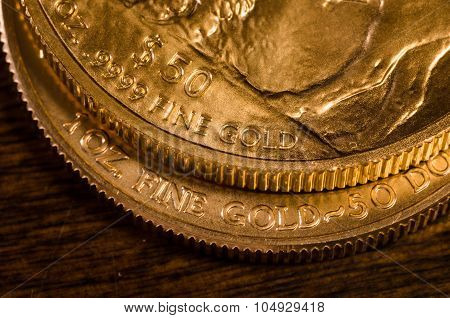 .9999 Fine Gold (words) On Gold Buffalo & Gold Eagle Coins