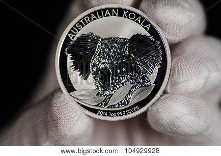 Austrialian Koala Silver Coin