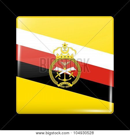 Brunei Army Ensign. Glassy Icon Square Shape