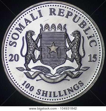 Somali Republic Silver Coin (2015 - Obverse)