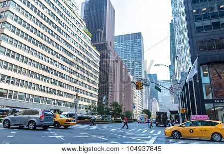 A view down Park Avenue facing the MetLife Building in New York