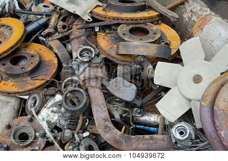 Rusty Brake Discs And Other Parts