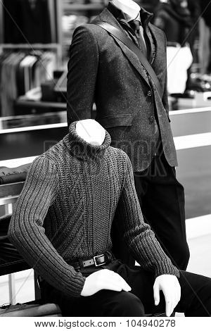 Couple Of Male Fashion Mannequins