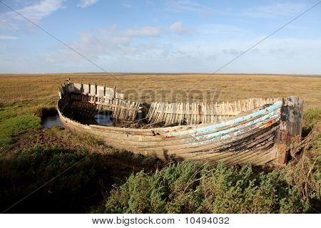 Wreck At Blakeney, Norfolk
