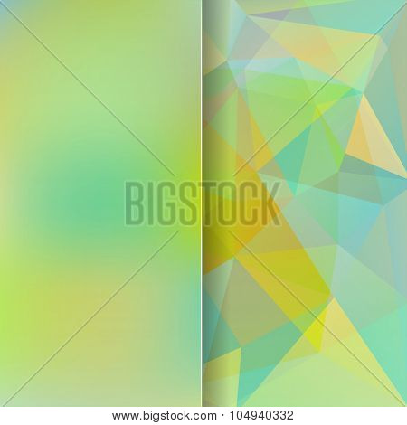 Abstract Background Consisting Of Green Triangles And Matt Glass, Vector Illustration