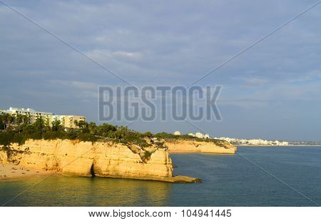 Senhora Da Rocha Beach on the Algarve in Portugal