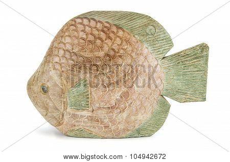 Wooden Fish Statuette