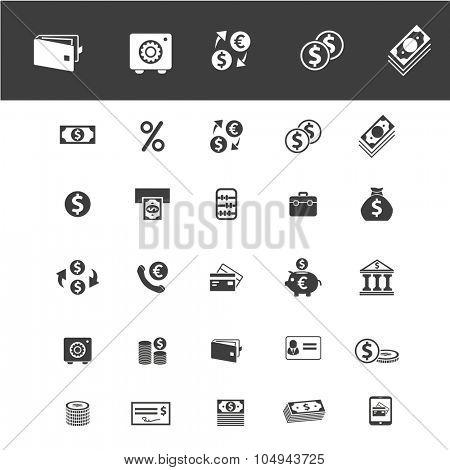 financial, economic, money icons