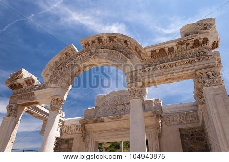 Detail Of The Temple Of Hadrian. Ephesus Ancient City, Selcuk, Turkey