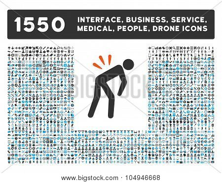 Backache Icon and More Interface, Business, Medical, People, Awards Glyph Symbols