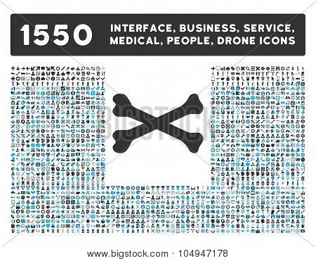 Bones Icon and More Interface, Business, Medical, People, Awards Glyph Symbols
