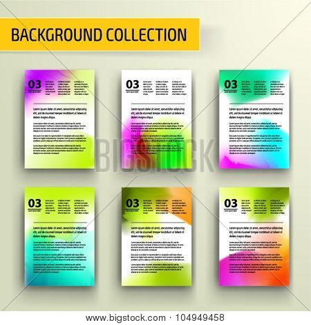 Watercolor Abstract background collection for business artwork. Vector Illustration, Graphic Design Editable For Your Design.
