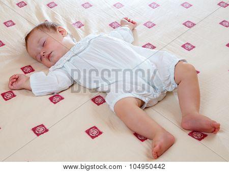 Adorable Sleeping Little Boy