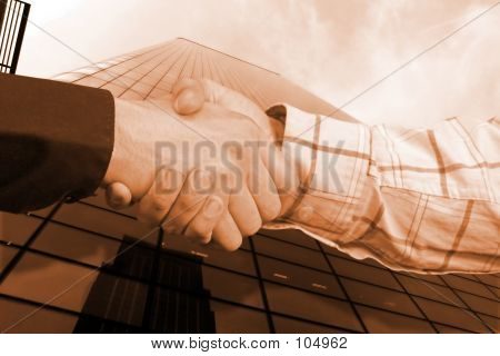Business Sephia Handshake