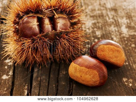 Chestnuts On An Old Table