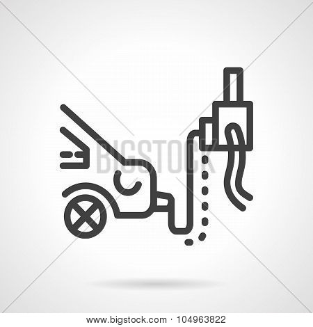 Car emission inspection simple line vector icon