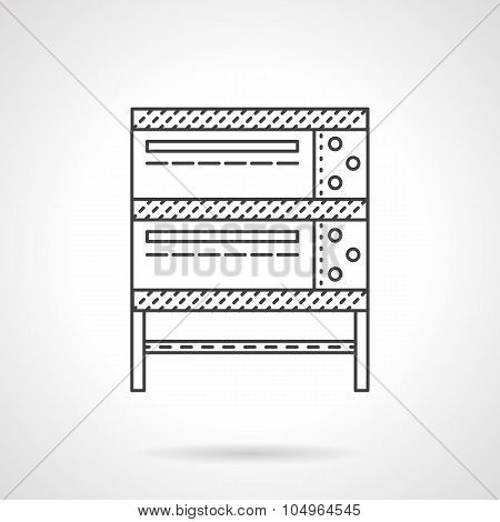 Industrial oven thin line vector icon
