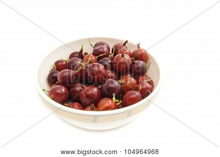 Gooseberries On A Glass Dish