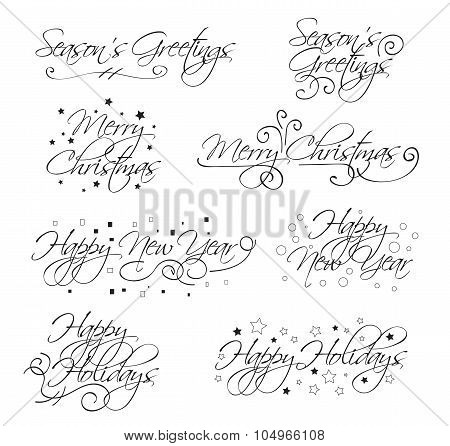 Holidy Vector Text