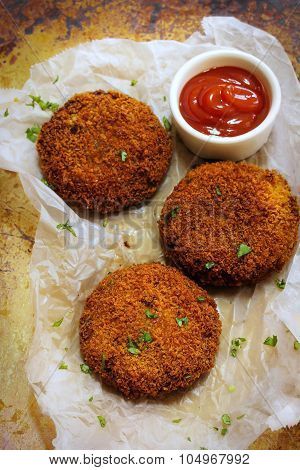Chicken Cutlets fried snack Indian food