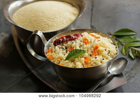 Upma - South Indian Breakfast made with semolina