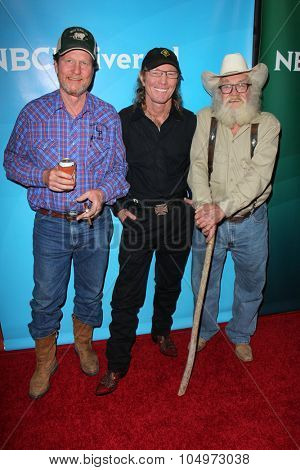 LOS ANGELES - AUG 12:  Rooster McConaughey, Butch Gilliam, Gil Prather at the NBCUniversal 2015 TCA Summer Press Tour at the Beverly Hilton Hotel on August 12, 2015 in Beverly Hills, CA