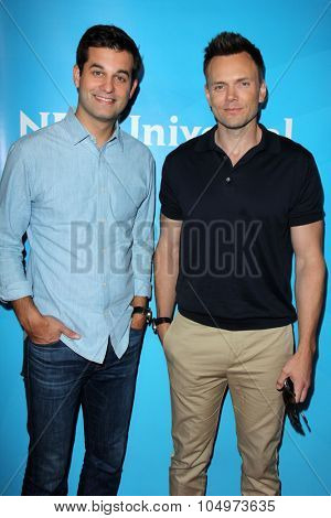 LOS ANGELES - AUG 12:  Michael Kosta, Joel McHale at the NBCUniversal 2015 TCA Summer Press Tour at the Beverly Hilton Hotel on August 12, 2015 in Beverly Hills, CA