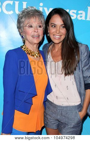 LOS ANGELES - AUG 12:  Rita Moreno, Michele Lepe at the NBCUniversal 2015 TCA Summer Press Tour at the Beverly Hilton Hotel on August 12, 2015 in Beverly Hills, CA