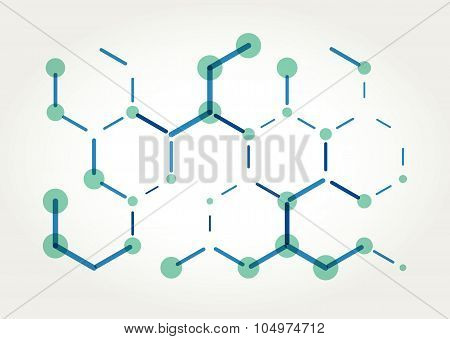 Abstract Vector hexagons template.