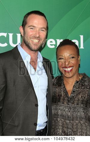 LOS ANGELES - AUG 12:  Sullivan Stapleton, Marianne Jean-Baptiste at the NBCUniversal 2015 TCA Summer Press Tour at the Beverly Hilton Hotel on August 12, 2015 in Beverly Hills, CA