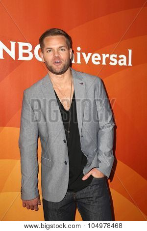 LOS ANGELES - AUG 12:  Wes Chatham at the NBCUniversal 2015 TCA Summer Press Tour at the Beverly Hilton Hotel on August 12, 2015 in Beverly Hills, CA
