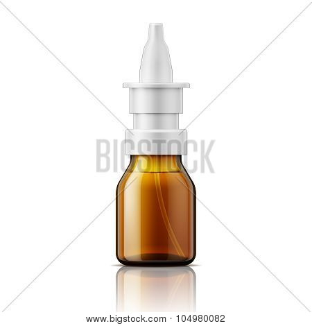 Glass nasal spray bottle.