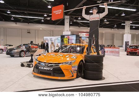 Toyota Camry  Nascar Race Car  On Display.
