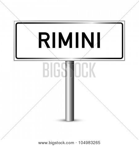 Rimini Italy - city road sign - signage board