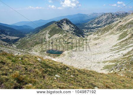 Panorama around the Malokamenishki lakes  in Pirin Mountain