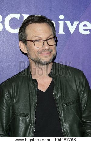 LOS ANGELES - AUG 12:  Christian Slater at the NBCUniversal 2015 TCA Summer Press Tour at the Beverly Hilton Hotel on August 12, 2015 in Beverly Hills, CA
