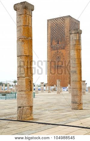 The   Chellah  In Morocco Africa  Old Roman Deteriorated