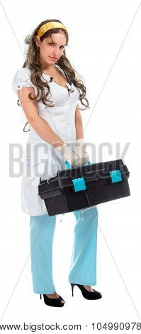 Beautiful Emergency Doctor With First Aid Kit