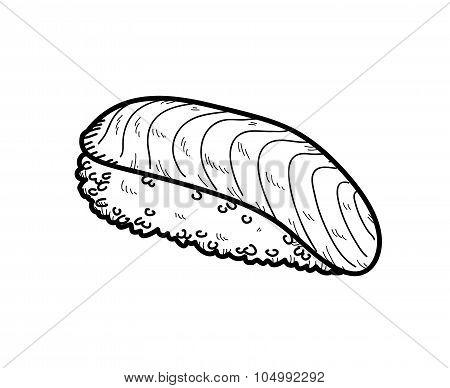 Salmon Sushi Doodle