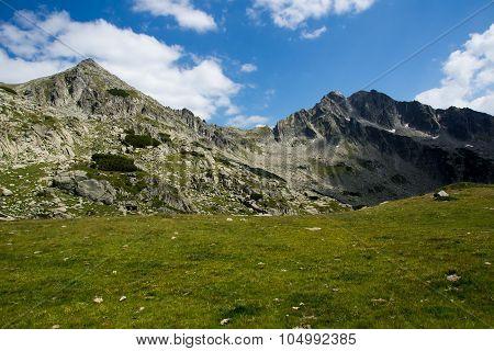 Amazing panorama of the Yalovarnika peaks in Pirin Mountain