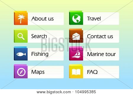 Icons For Travel Web Site