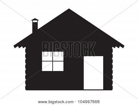 Log Cabin Silhouette