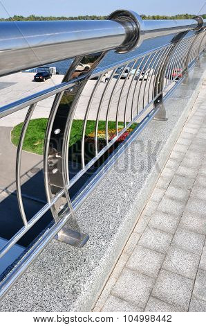 Handrails On On Nature Background