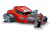 foto of street-rod  - Vector cartoon hotrod - JPG