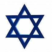 pic of fundamentalist  - 3D star of david on a white background - JPG