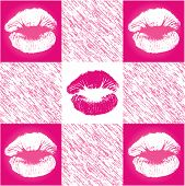 Checkerd Lip Print Pattern