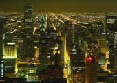 A Aerial View Of The Chicago Night #2