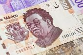 New mexican 500 pesos bill Diego Rivera