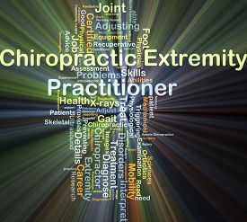 picture of chiropractic  - Background concept wordcloud illustration of chiropractic extremity practitioner glowing light - JPG